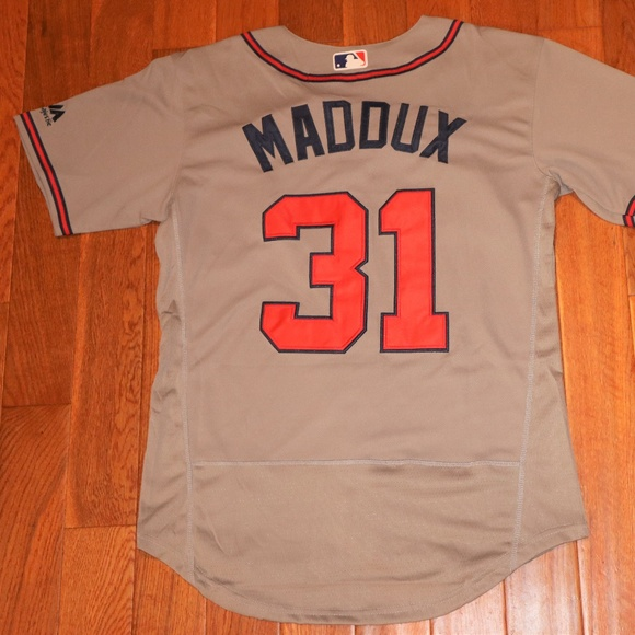 timeless design 83c26 faabf Greg Maddux #31 Grey Flex Base Braves Jersey